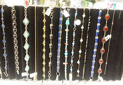 Bracelets - Sterling Silver and Real Stones $ 20.00- $60.00
