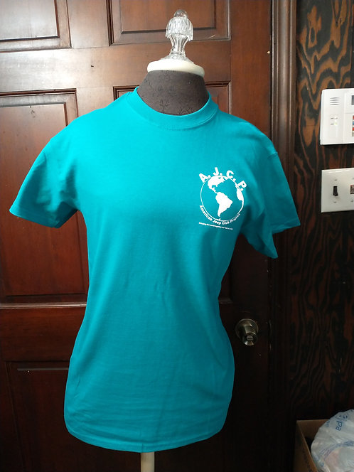 Ladies Teal color short sleeve