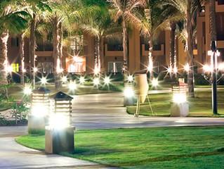 Iluminación exterior de jardín