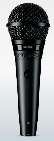Micrófono shure con cable PGA-58