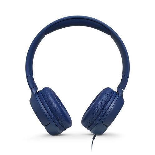 Jbl audífonos Tune 500 tipo diadema con micrófono incluido.