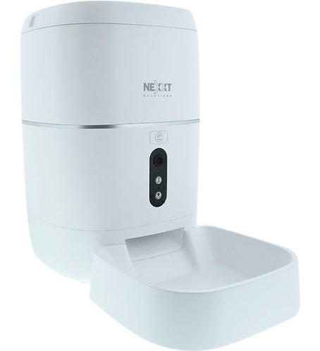 Nexxt Dispensador inteligente de alimento para mascotas conexión Wi-Fi y cámara