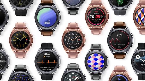 Samsung Galaxy Watch 3 - 41 mm - plateado místico /banda de cuero