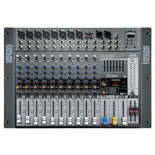 England Audio Consola de 10 canales de mezcla - Canales 8 mono + 2 esteo - Cana.