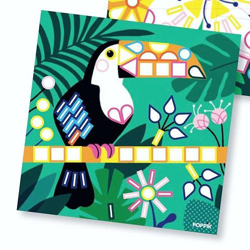 Τροπικά Είδη 6 Κάρτες με Αυτοκόλλητα Ι Εκπαιδευτικά Παιχνίδια Poppik