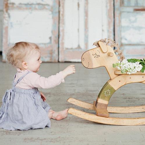 Ξύλινο Κουνιστό Αλογάκι Πράσινο I Είδη για Παιδιά