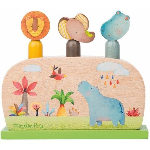 Ξύλινο Παιχνίδι Pop-Up Εκπαιδευτικά Παιχνίδια για Παιδιά