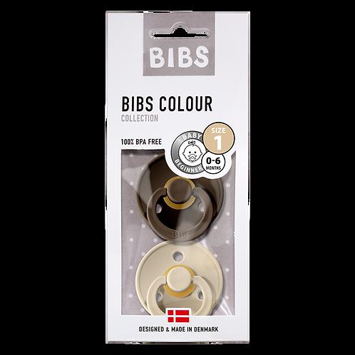 Σετ 2 Πιπίλες 0-6 Μηνών (Chocolate/Sand) - Bibs