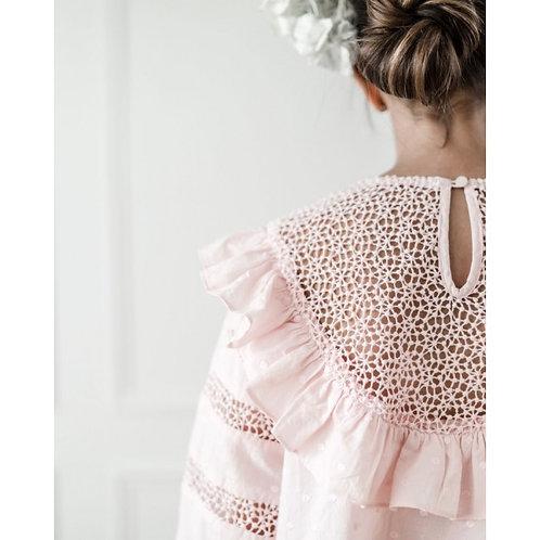 Ροζ Κεντητό Φόρεμα - Ένδυση για Κορίτσια