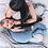 Thumbnail: Μαξιλάρι Θηλασμού Velvet Ocean Blue - KADARO