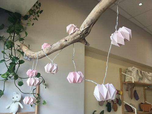 Σετ Ροζ Φωτάκια Origami String LED Ι Διακόσμηση Παιδικού Δωματίου