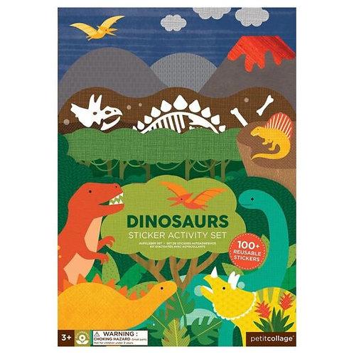 Σετ Δραστηριοτήτων Δεινόσαυροι + 100 Αυτοκόλλητα - Petit Collage