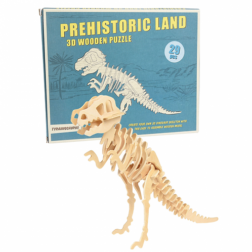 DIY Τυραννόσαυρος Ξύλινο 3D Παζλ - Rex London