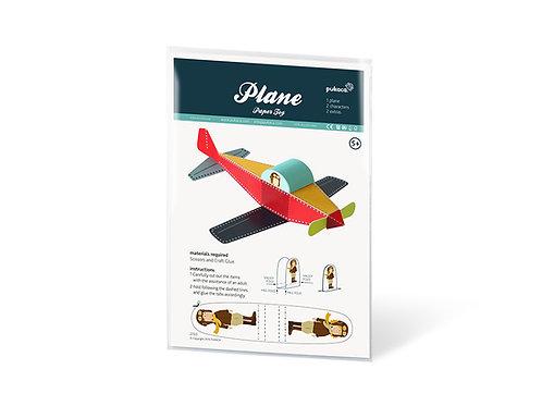 DIY 3D αεροπλάνο - Χάρτινη Κατασκευή