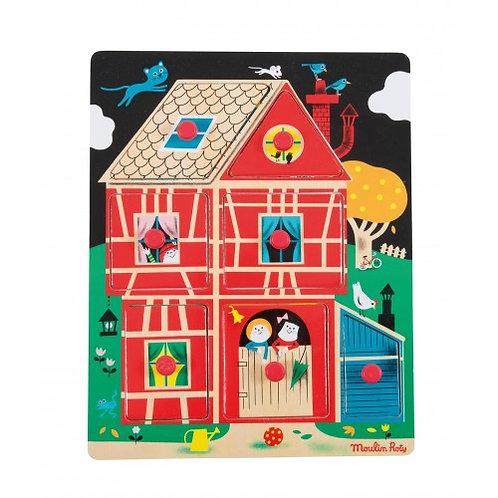 Παζλ Σπίτι Με Πίρους - Εκπαιδευτικά Παιχνίδια για Παιδιά