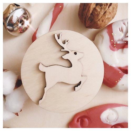 Ξύλινη Σφραγίδα Reindeer - Bluberry Kidsroom