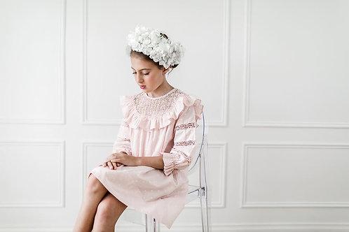 Ροζ Κεντητό Φόρεμα - Ένδυση για Κορίτσια - Petite Amalie