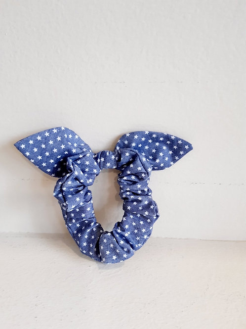 Scrunchies Μπλε/Γκρι με Dots - Luciole et Petit Pois