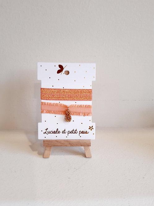 Βραχιόλια Πορτοκαλί/Χρυσό - Luciole Petit Pois