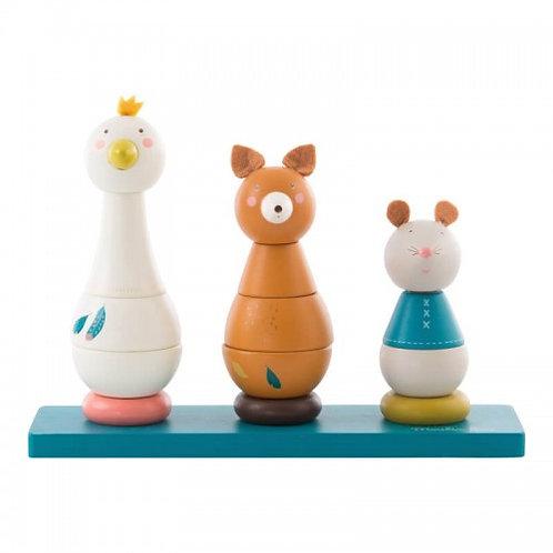 Ξύλινο Παιχνίδι Στοίβαξης με Ζώα - Είδη για Παιδιά
