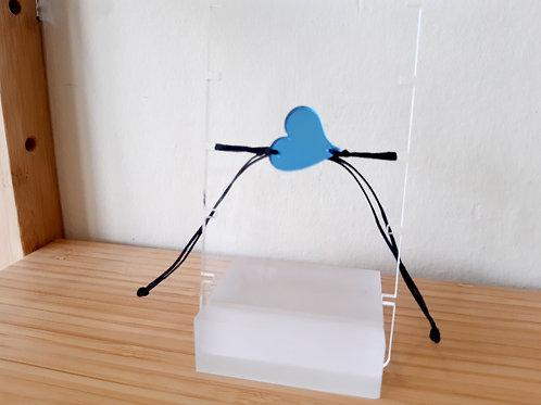 Βραχιόλι Καρδιά Μπλε Plexiglass - Ioannam