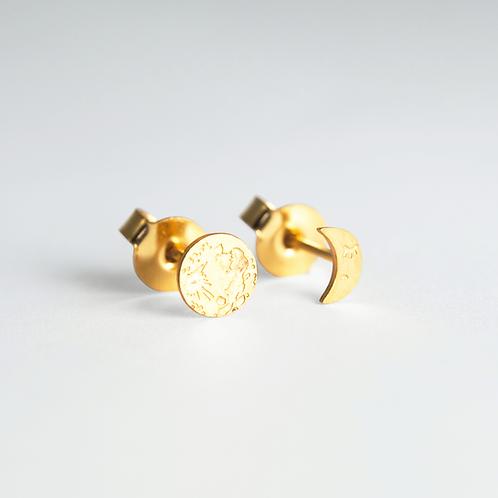 Σκουλαρίκια Ασύμμετρα / Φάσεις της Σελήνης - Adorabili Paris