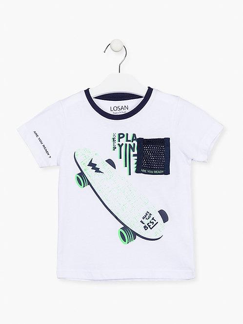 Λευκό Μπλουζάκι Πατίνι - Losan