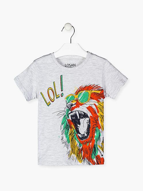 Μπλουζάκι Γκρι Animal - Losan