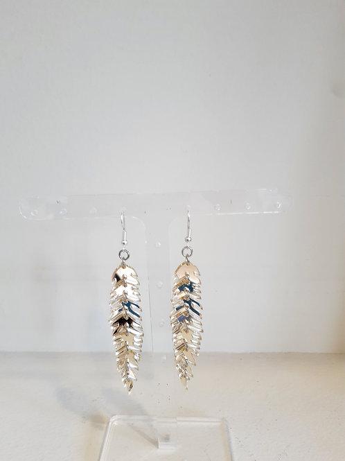 Plexiglass Σκουλαρίκια Ψαροκόκκαλο Χρυσό - Ioannam