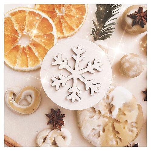 Ξύλινη Σφραγίδα Snowflake - Bluberry Kidsroom