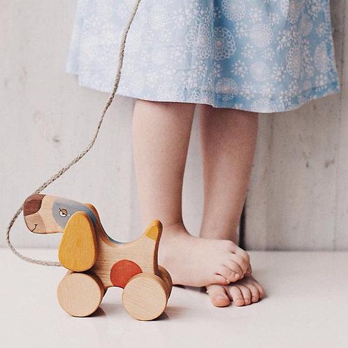 Ξύλινο Παιχνίδι Τραβήγματος Pull Dog Toy