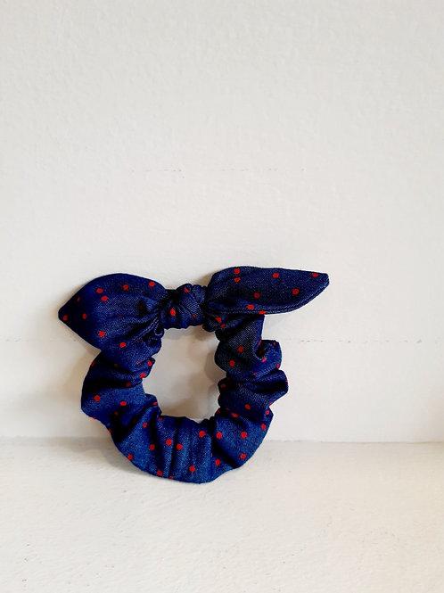 Scrunchies Μπλε με Dots - Luciole et Petit Pois