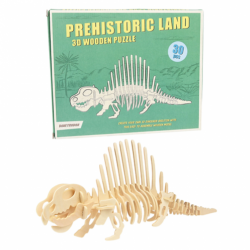 DIY Dimetrodon Ξύλινο 3D Παζλ - Rex