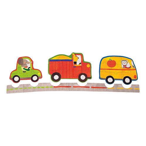 Αυτοκίνητα Σετ 4 Παζλ Ι Παιχνίδια για Παιδιά