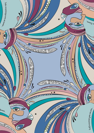 DREAM celadon - pattern