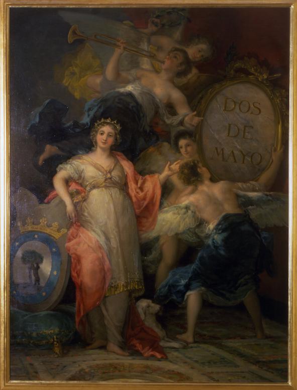 Goya alegoría de Madrid 2 de mayo