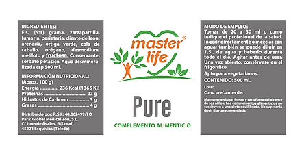 PURE master life depurativo detox