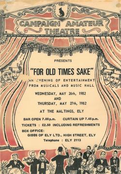 """For Old Times Sake"" Poster"