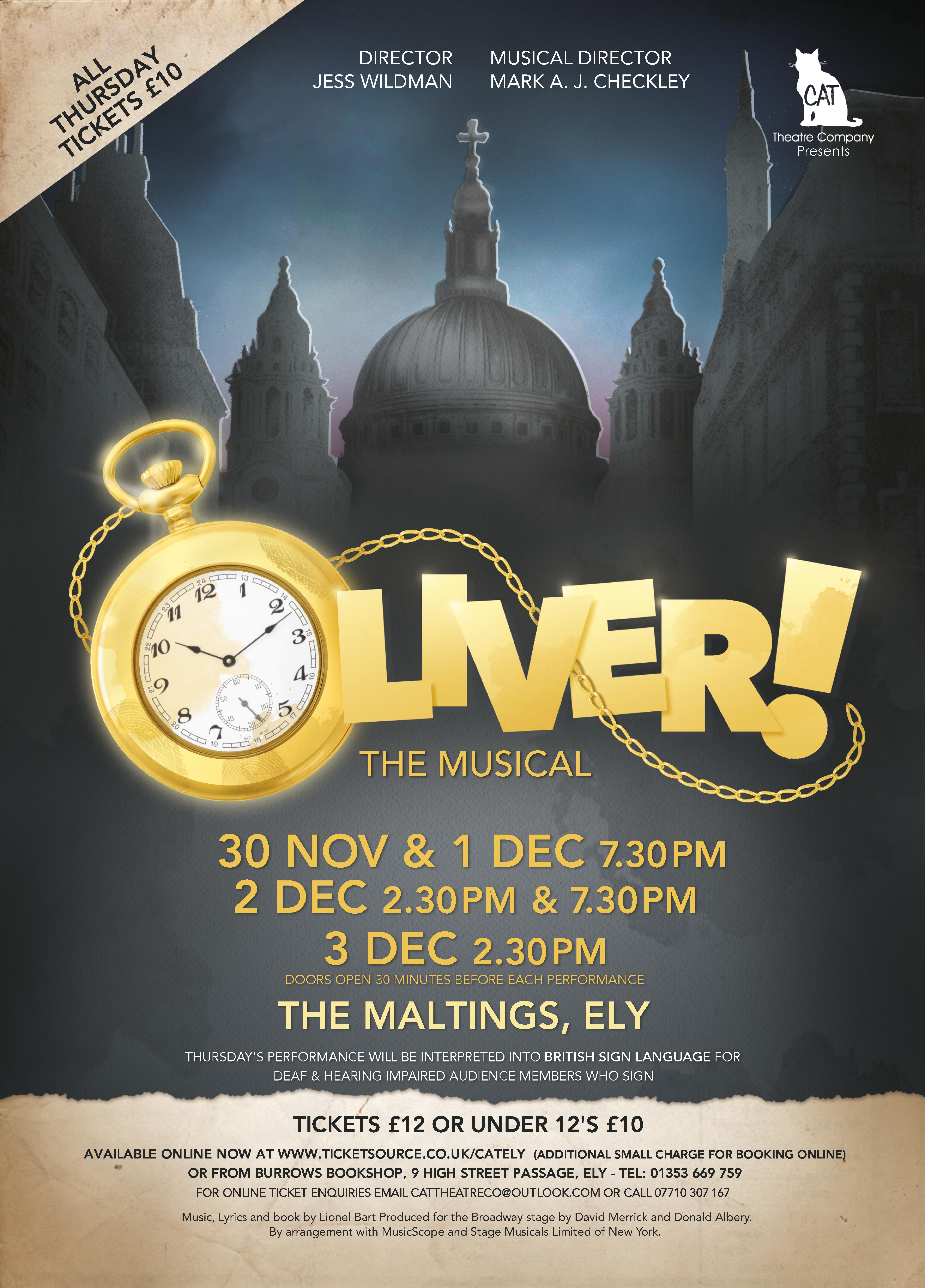 Oliver! A4 Poster FINAL Jpeg