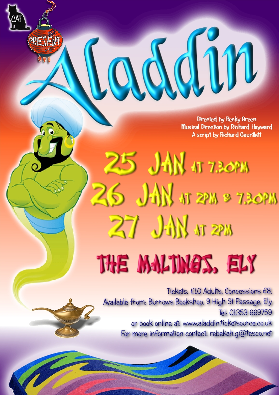 Aladdin Pantomime Poster