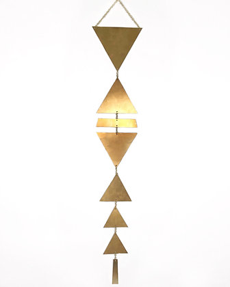 Triangle Brass Wall Hanging