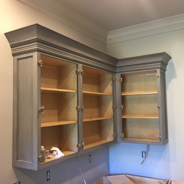 kitchen-remodel-gray-cabinet-going-up