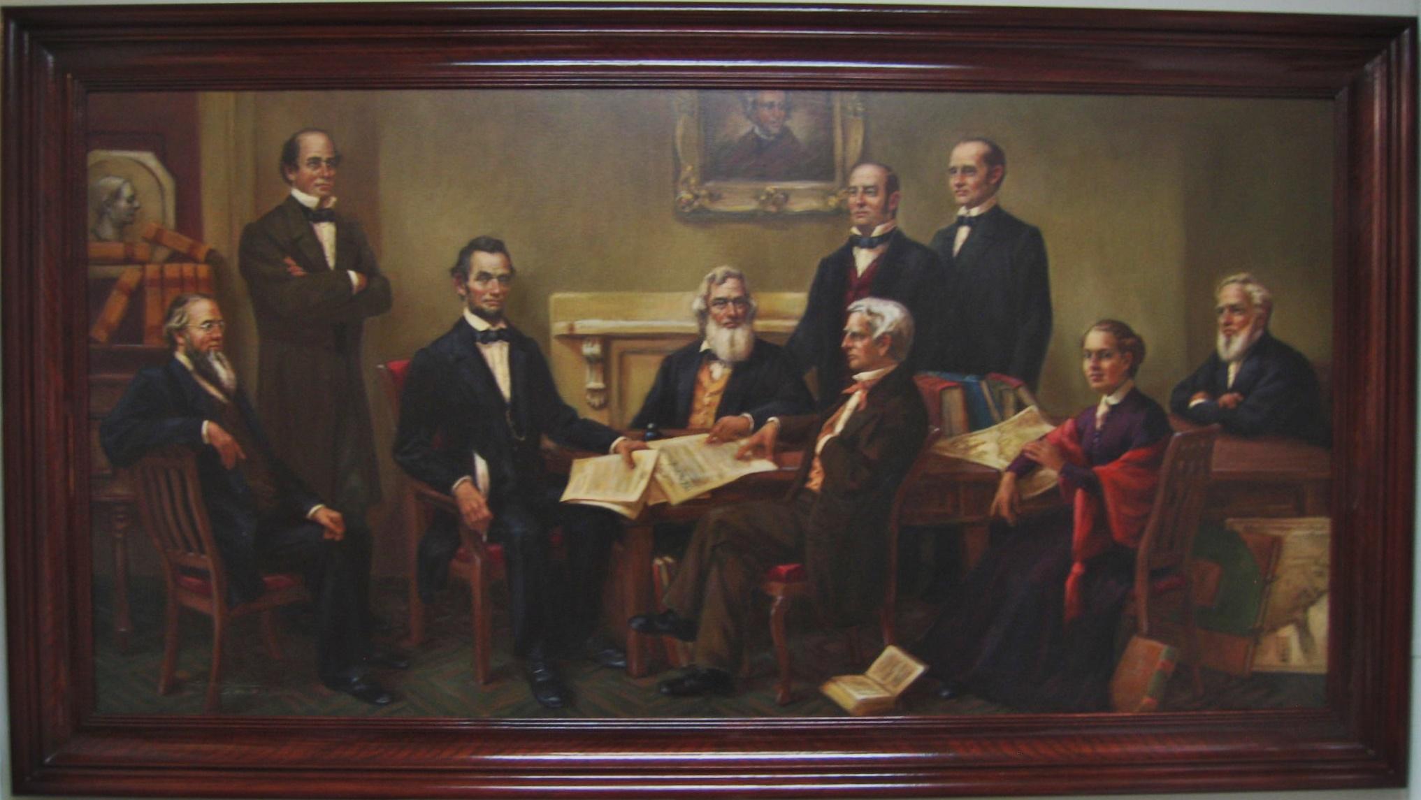 Lincolns Cabinet w/Anna Ella Carroll