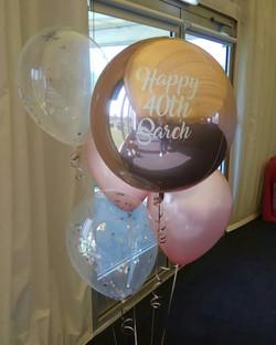 Rose Gold Balloon Bouquet