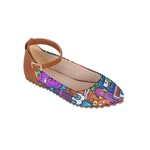 Kids Round Shoes Monsters