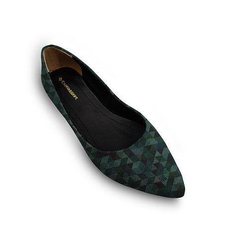 Flat Women's Shoe Oil Tri