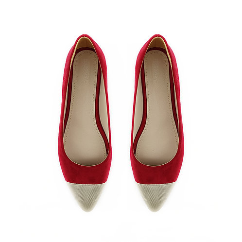 Pump Red Flat Women's Shoe