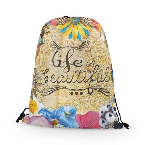 Drawstring Bag Life Beautiful