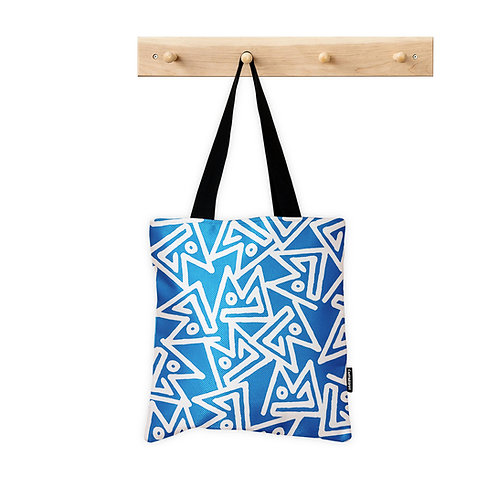 Tote Bag Light Blue Seamless