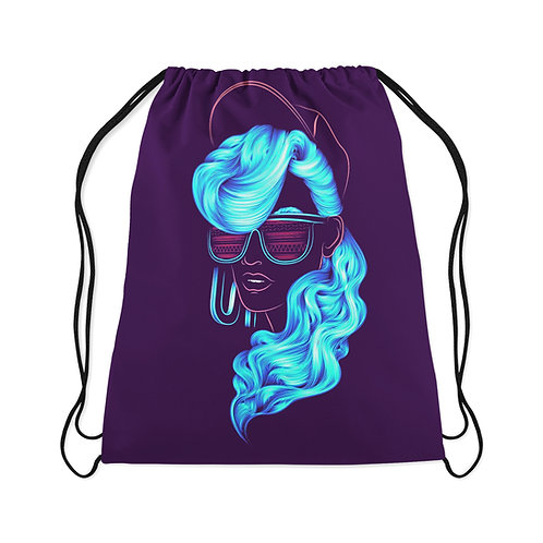Drawstring Bag Neon Girl
